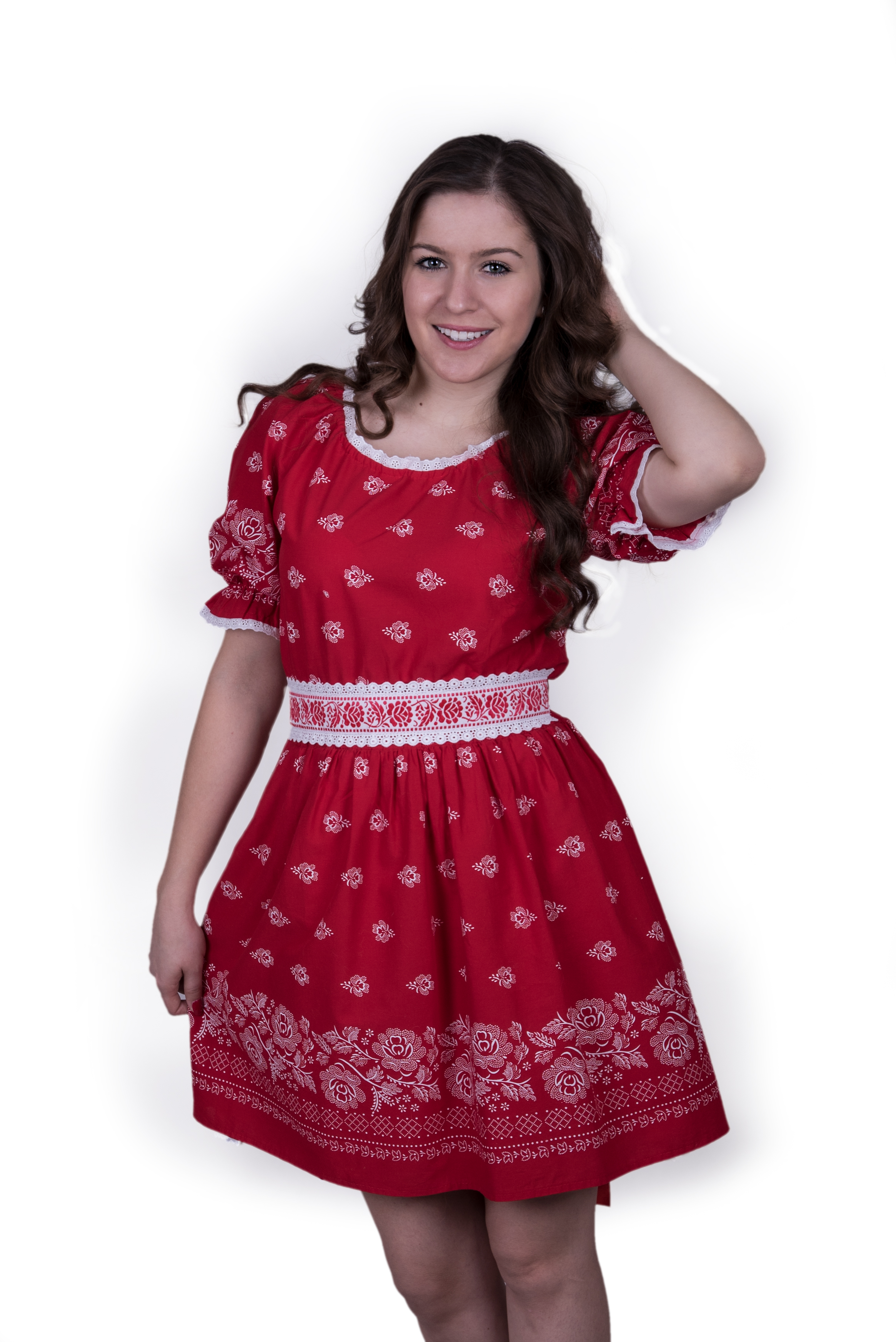 ff8edec9e69f Červené folk šaty – babafolk.sk