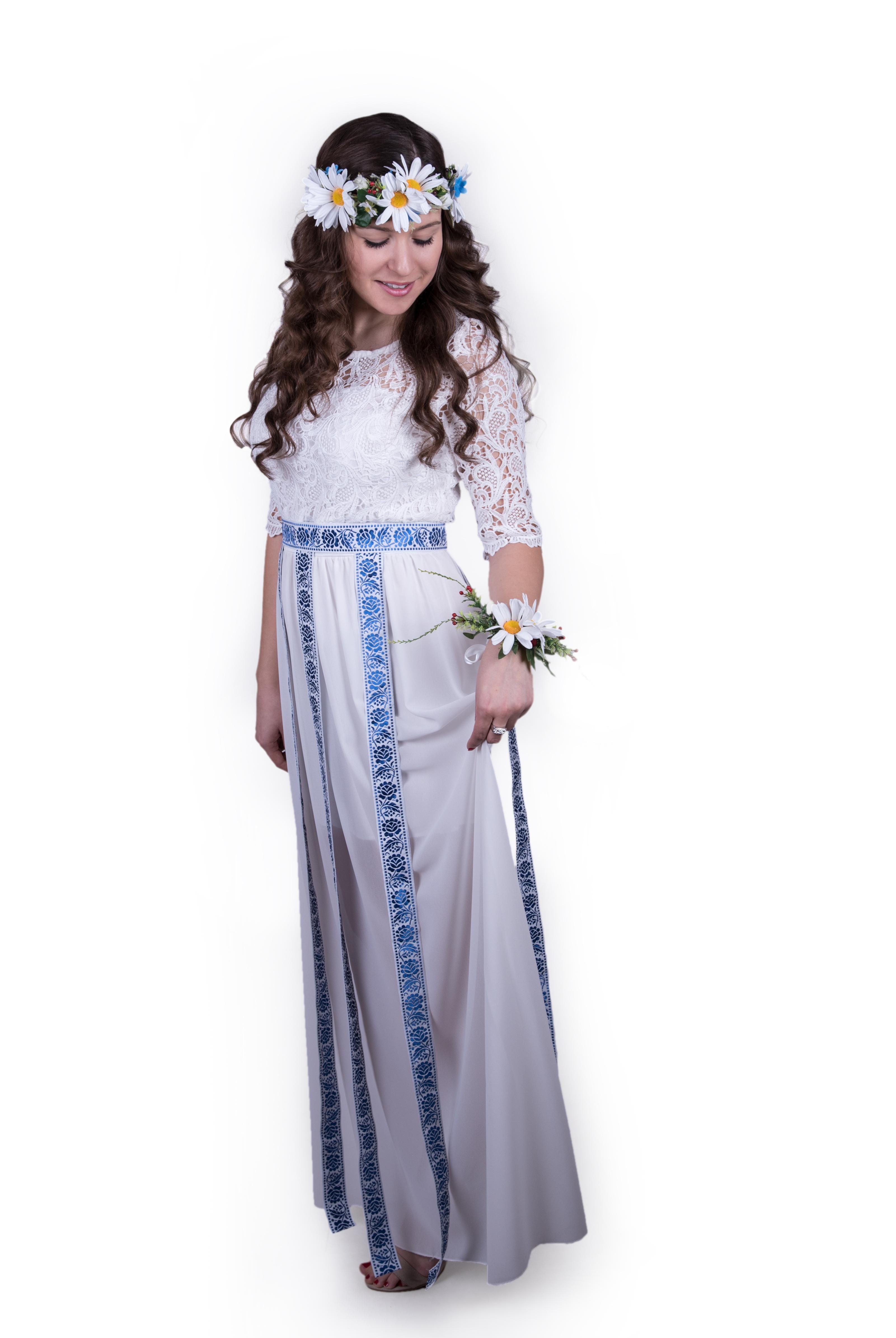 89572a87c4b3 Dreveno modrý svadobný luxus folk set + biele traky – babafolk.sk