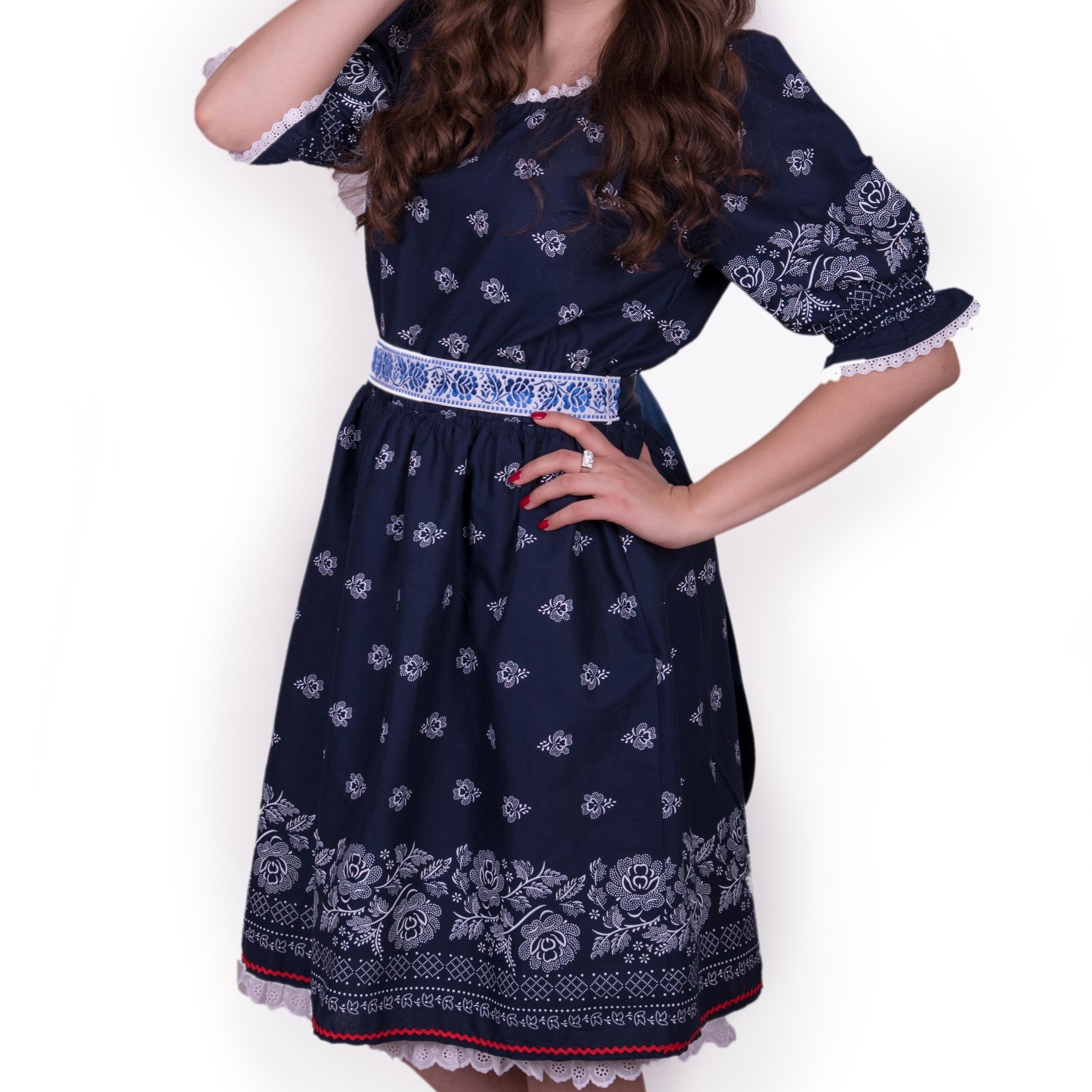 e77c7d8572f6 Modrotlač šaty na redový a čepčenie – babafolk.sk