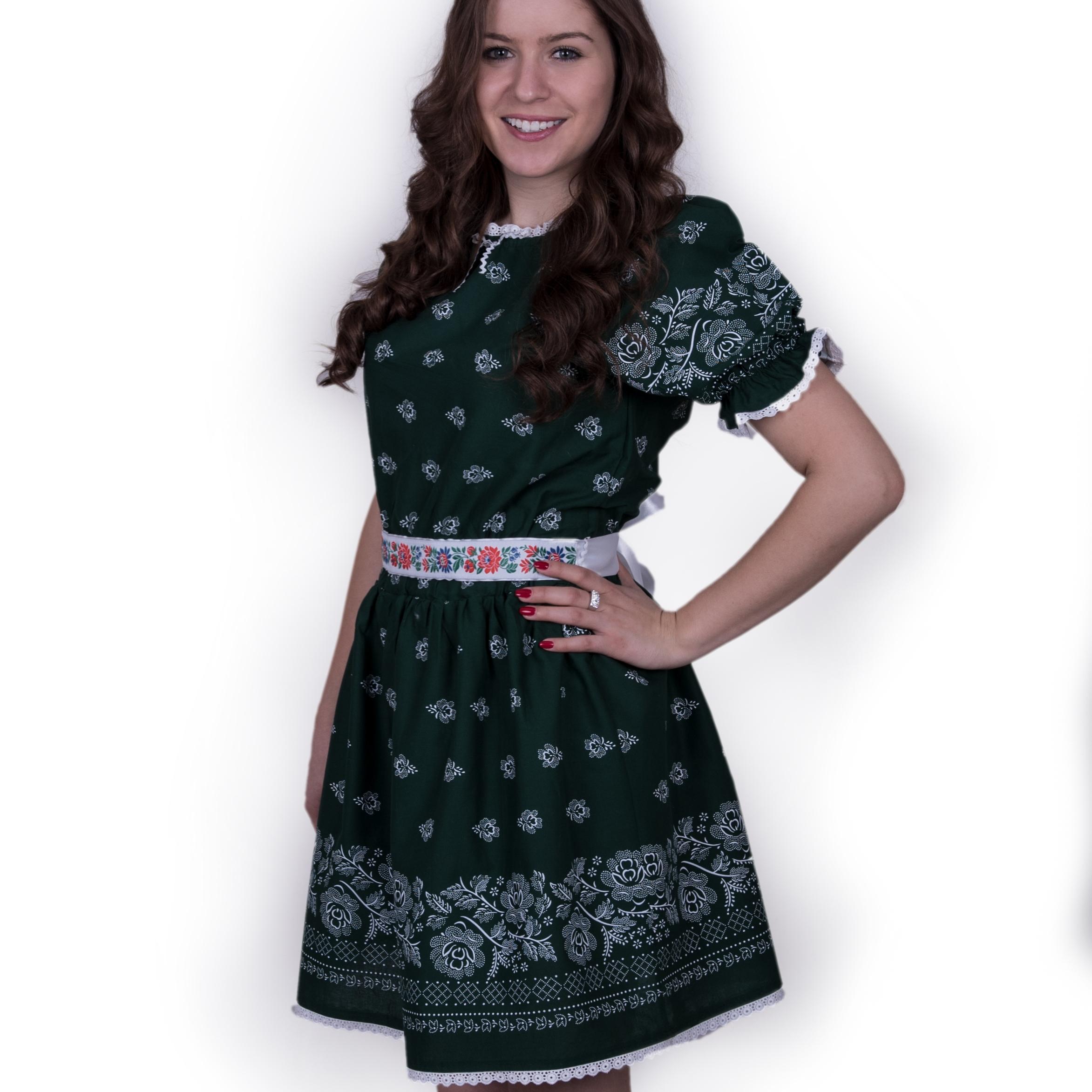 5b3fa112ccc9 Zelené šaty na redový a čepčenie – babafolk.sk